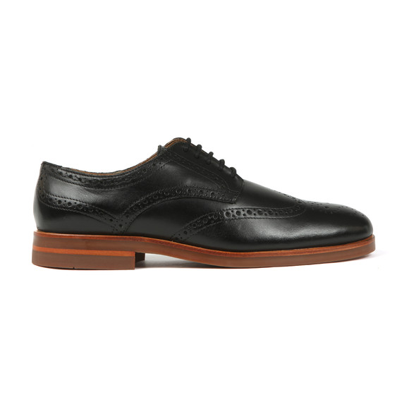 H By Hudson Mens Black Balleter Leather Brogue main image