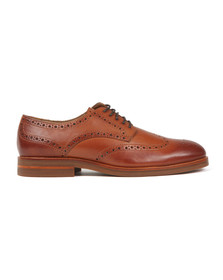 H By Hudson Mens Brown Balleter Leather Brogue
