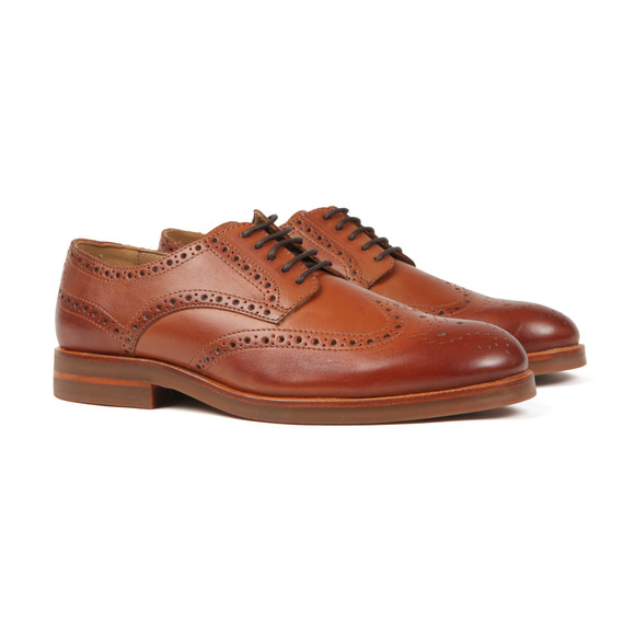 H By Hudson Mens Brown Balleter Leather Brogue main image