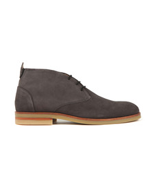H By Hudson Mens Grey Bedlington Suede Boot