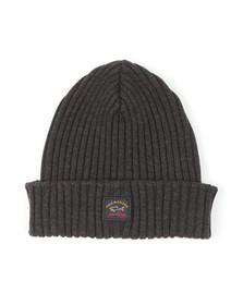 Paul & Shark Mens Grey Watershed Knitted Hat