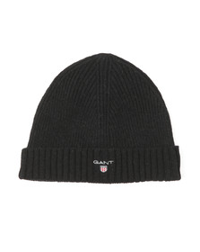 Gant Mens Black Wool Beanie