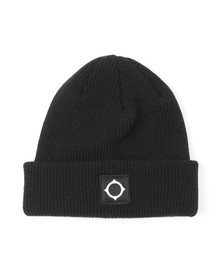 Ma.Strum Mens Black Merino Icon Watch Hat
