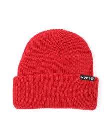HUF Mens Red Usual Beanie