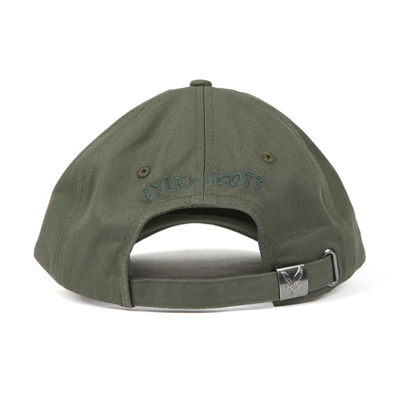 Lyle and Scott Mens Green Cotton Twill Baseball Cap main image