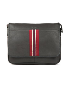 Ted Baker Mens Brown Striped Webbing Messenger Bag