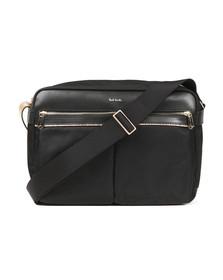 Paul Smith Mens Black Nylon Function Messenger Bag