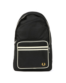 Fred Perry Mens Black Twin Tipped Backpack