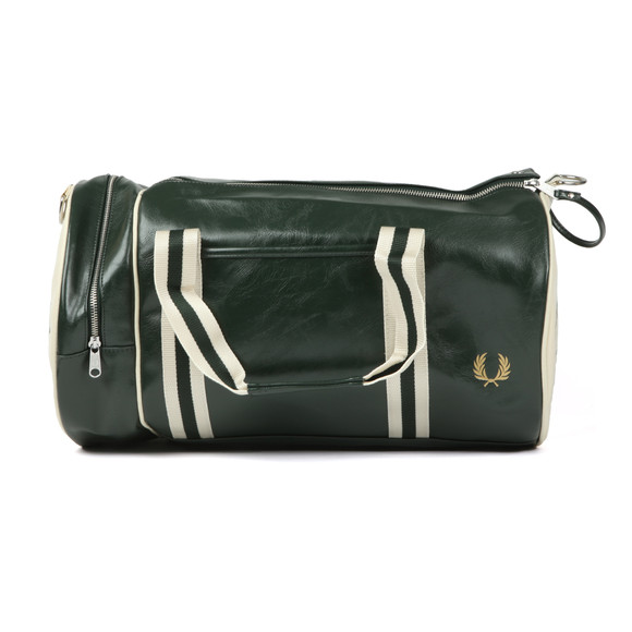 Fred Perry Sportswear Mens Green Classic Barrel Bag main image