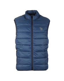 PS Paul Smith Mens Blue Quilted Gilet
