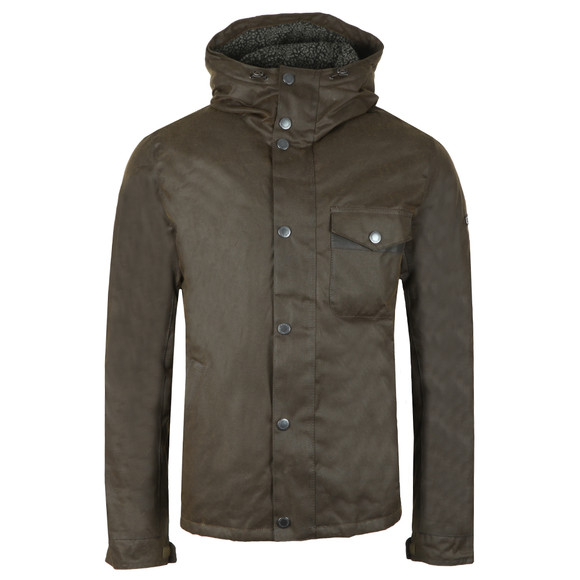 Barbour International Mens Green Kevlar Wax Jacket main image