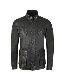 Barbour International Mens Black Paul Leather Jacket