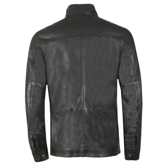 Barbour International Mens Black Paul Leather Jacket main image