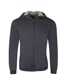 Aquascutum Mens Blue Tyne Hooded Reversible Blouson