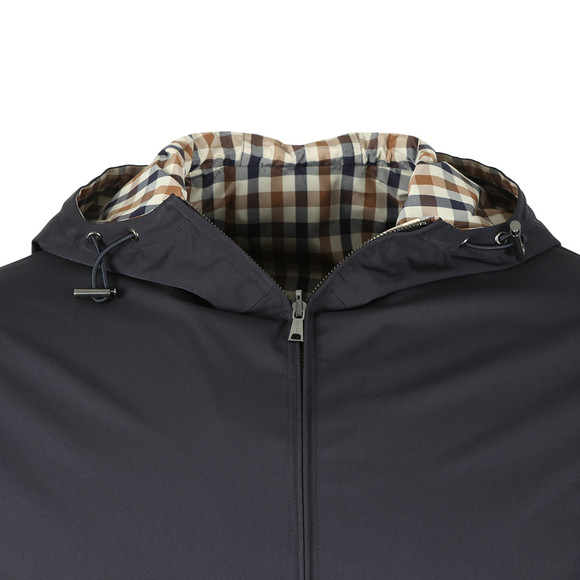 Aquascutum Mens Blue Tyne Hooded Reversible Blouson main image