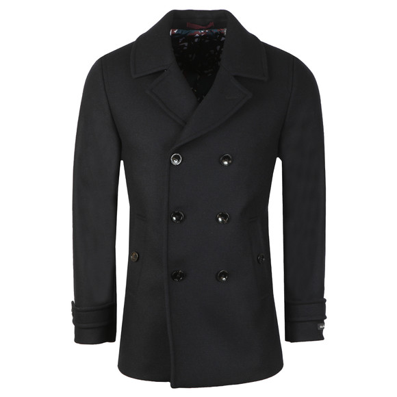 Ted Baker Mens Blue Wool Peacoat main image