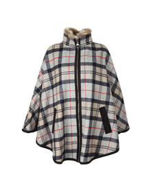 Barbour Lifestyle Womens Brown Crieff Wool Cape