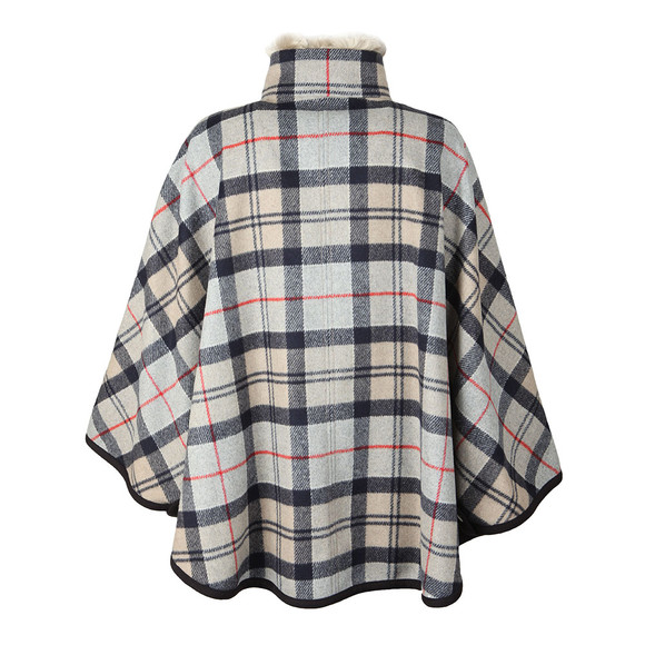 Barbour Lifestyle Womens Brown Crieff Wool Cape main image