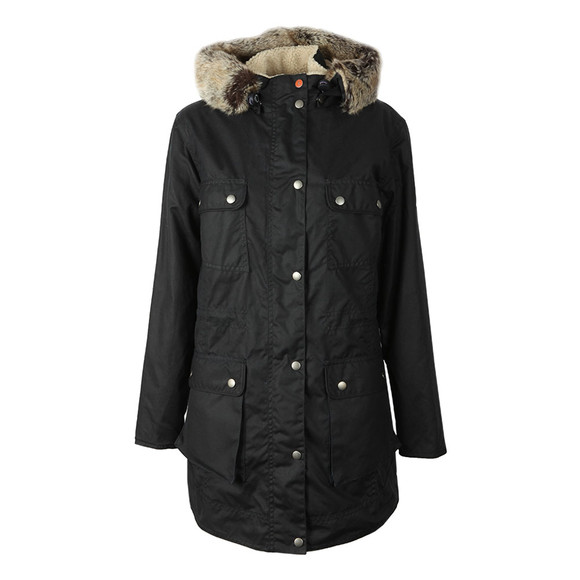 Barbour Lifestyle Womens Blue Carribena Wax Parka main image