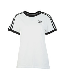 adidas Originals Womens White 3 Stripes Tee