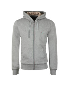 Tommy Hilfiger Mens Grey Basic Fur Lined Zip Hoodie
