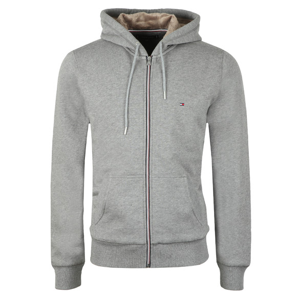 Tommy Hilfiger Mens Grey Basic Fur Lined Zip Hoodie main image