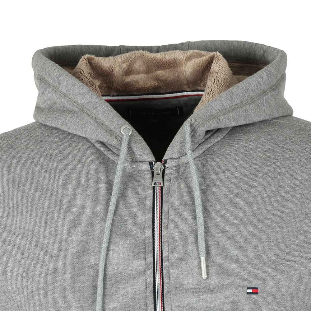 Basic Fur Lined Zip Hoodie main image