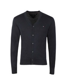 Tommy Hilfiger Mens Blue Cotton Silk Cardigan