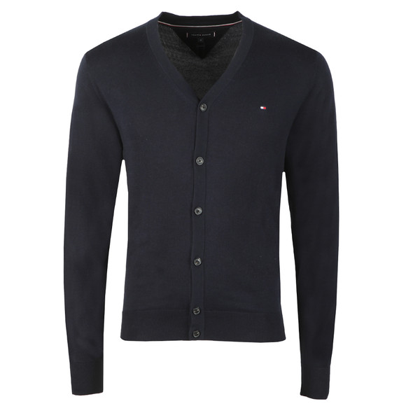 Tommy Hilfiger Mens Blue Cotton Silk Cardigan main image