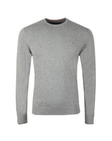 Tommy Hilfiger Mens Grey Pima Cotton Cashmere Jumper