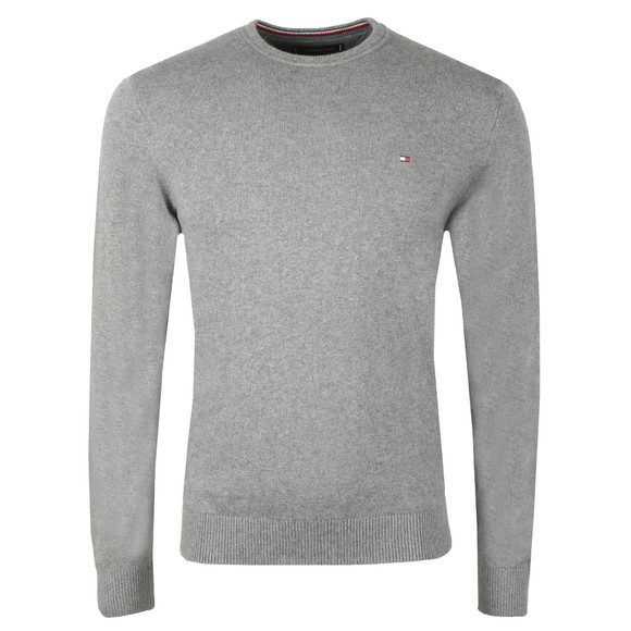 Tommy Hilfiger Mens Grey Pima Cotton Cashmere Jumper main image