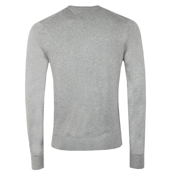 Tommy Hilfiger Mens Grey Pima Cotton Cashmere Jumper main image