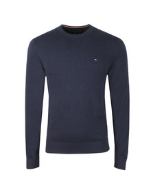 Tommy Hilfiger Mens Blue Pima Cotton Cashmere Jumper