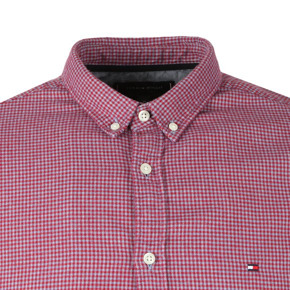 Tommy Hilfiger Mens Red L/S Mini Gingham Shirt main image