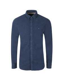 Tommy Hilfiger Mens Blue Heather Corduroy LS Shirt