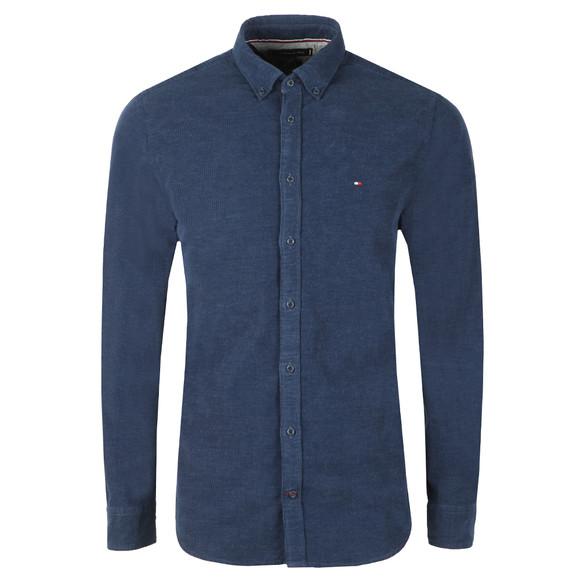 Tommy Hilfiger Mens Blue Heather Corduroy LS Shirt main image