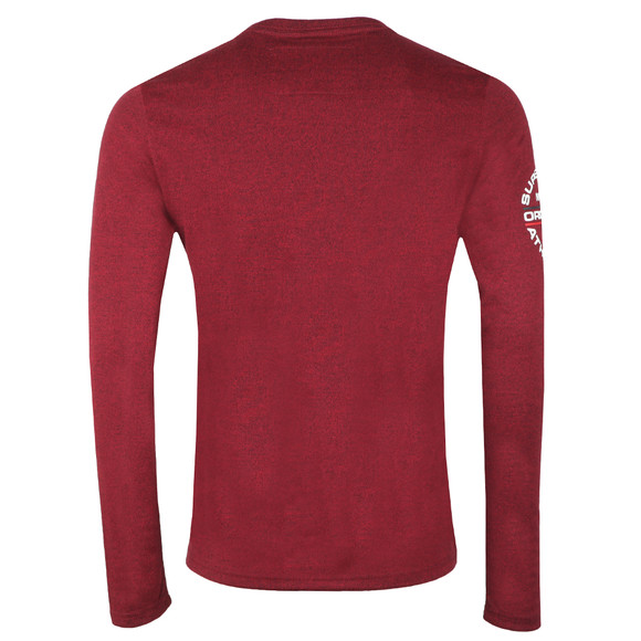 Superdry Mens Red Trophy LS Tee main image