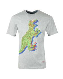 PS Paul Smith Mens Grey S/S Dino Print Tee