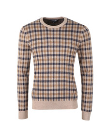 Aquascutum Mens Brown Hinton CC Jaquard Jumper