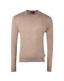 Aquascutum Mens Beige Croft Crew Neck With Elbow Patch