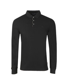 Aquascutum Mens Black Hillington CC Placket Polo