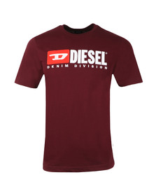 Diesel Mens Red T-Just Division T Shirt