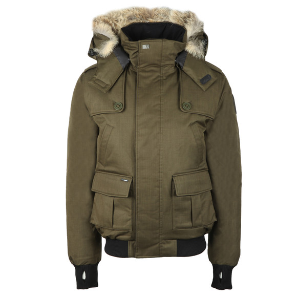 Nobis Mens Green Cartel Bomber Jacket main image