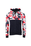 Fila Mens Blue Graphic Oswald Hoodie