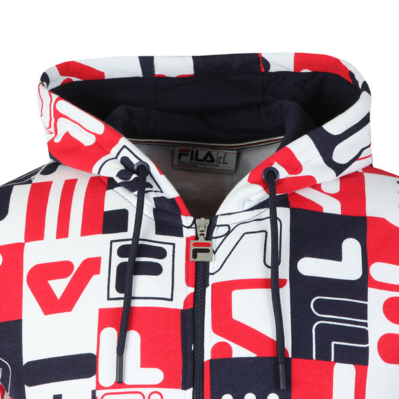 Fila Mens Blue Graphic Oswald Hoodie main image