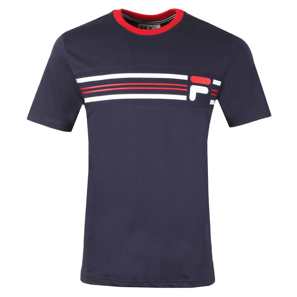 Fila Mens Blue S/S Cut & Sew Tee main image