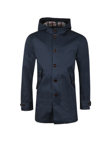 Pretty Green Mens Blue Bonded Hooded Parka