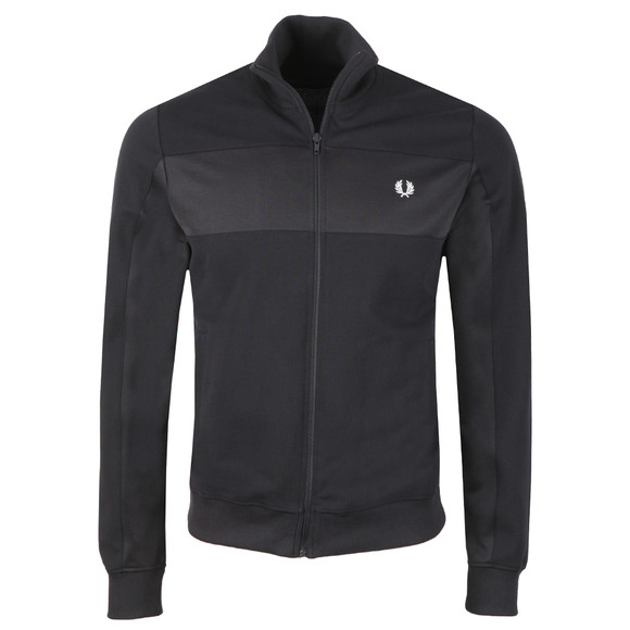 Fred Perry Mens Blue Panelled Track Jacket main image