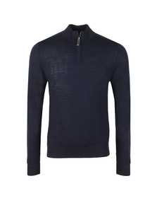 Aquascutum Mens Blue Hamilton Half Zip Knit