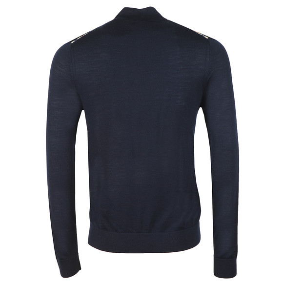 Aquascutum Mens Blue Hamilton Half Zip Knit main image